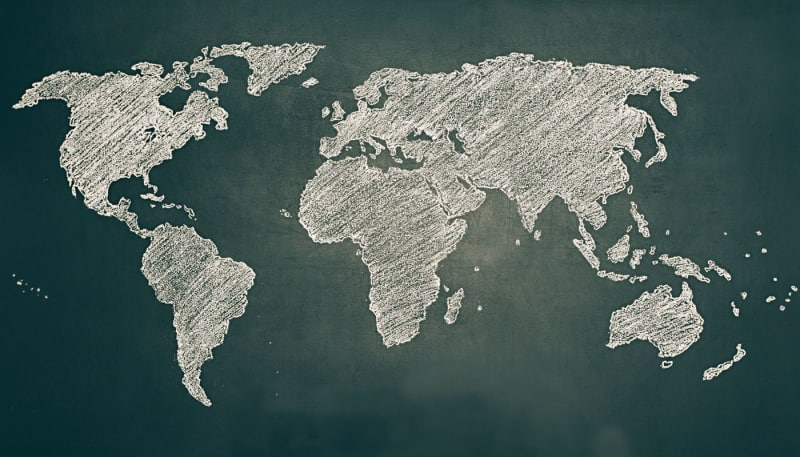 Your potential customers on a world map