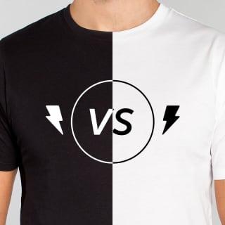 Verkaufs-Analyse: Schwarze oder weiße T-Shirts?