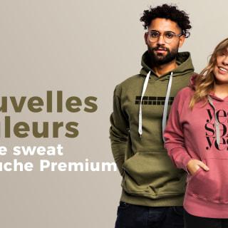 Le sweat à capuche Premium avec de nouvelles couleurs