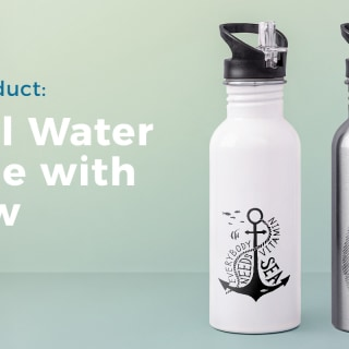 Product News: Metal Water Bottle with Straw