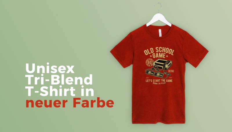 Unisex Tri-Blend T-Shirt in neuer Farbe