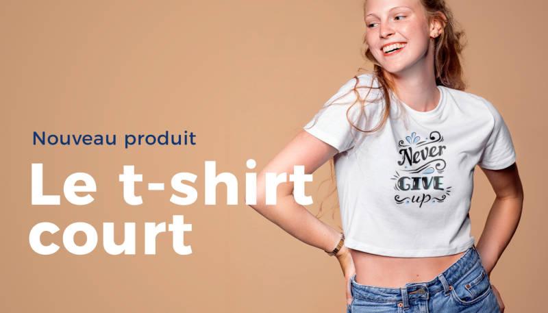 Nouveau et sans ventre – t-shirt court