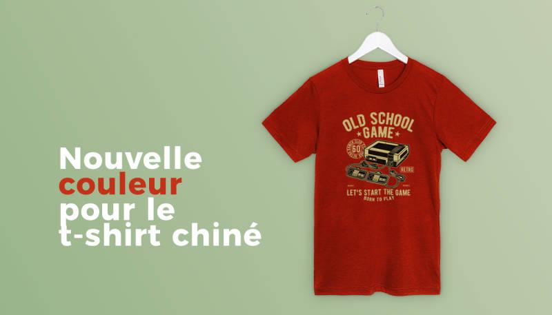Nouvelle couleur pour le t-shirt chiné