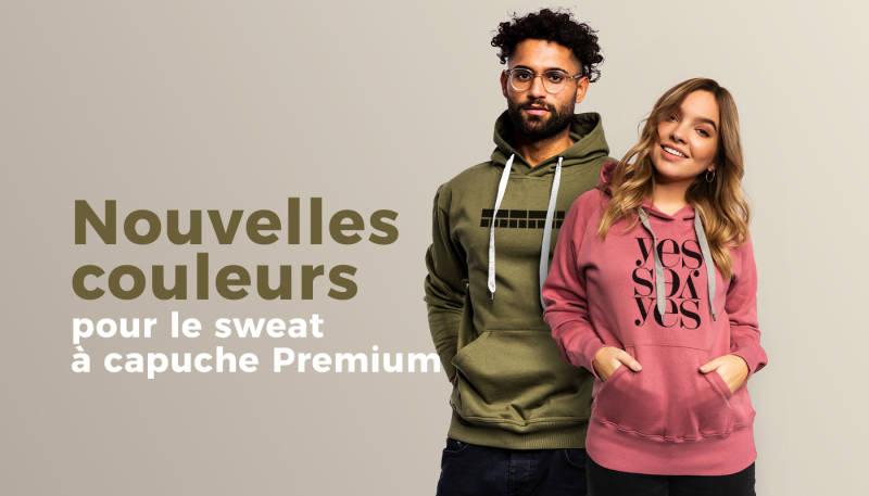Nouvelles couleurs pour le sweat à capuche Premium