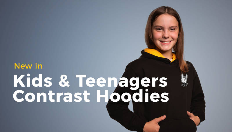 New in: Kids and Teenagers Contrast Hoodies