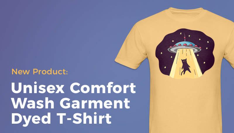Product News: Unisex Comfort Wash Garment Dyed T-Shirt