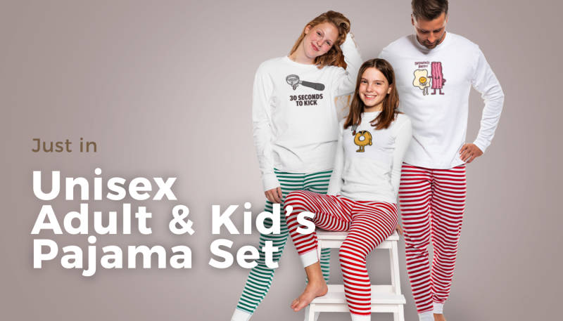 Get Festive with Unisex and Kids Pajama Sets