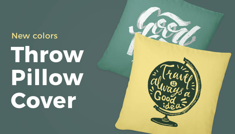 New Throw Pillow Cover Colors