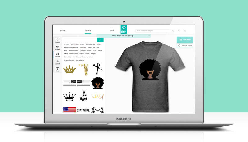 Changes: Displaying your Designs in Spreadshirt's Create Tool