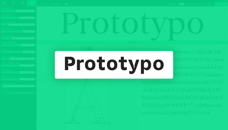 Toolbox: Design your Typo with Prototypo
