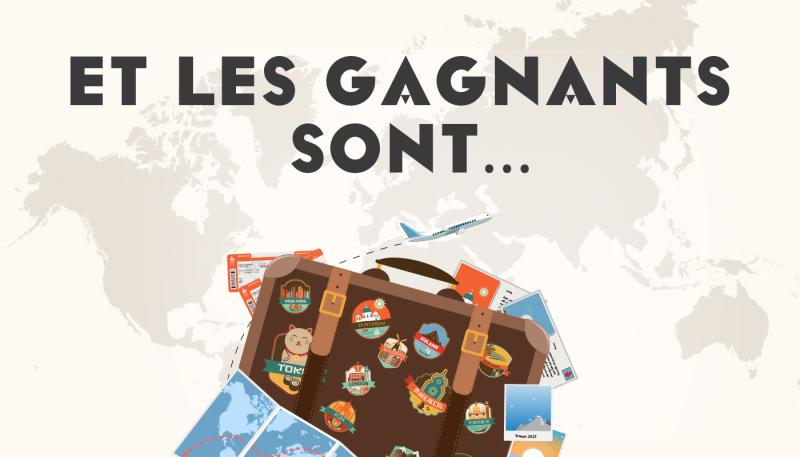 Les gagnants du concours «  Voyage Voyage »