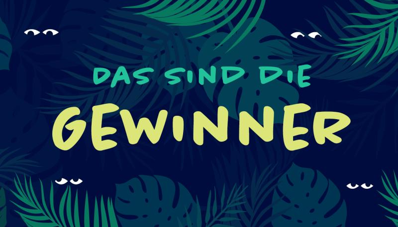 Die Gewinner des Dschungeltiere-Wettbewerbs