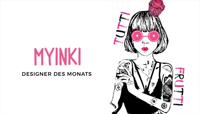 Sensible Illustrationen von Designerin des Monats MYINKI
