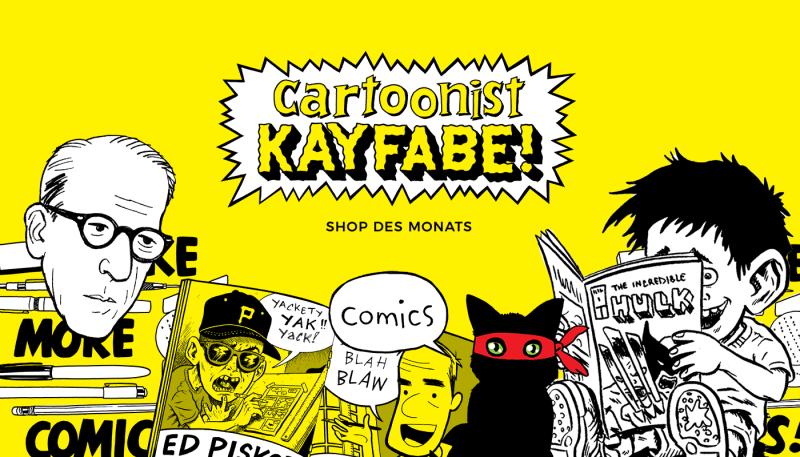 Bam! Pow! Cartoonist Kayfabe ist unser Shop des Monats