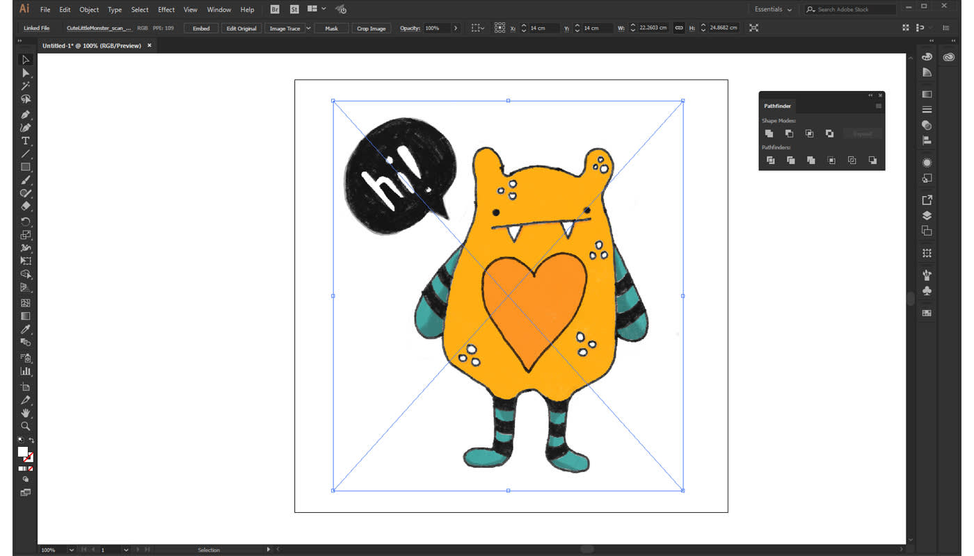 How to Vectorize an Image in Illustrator - The US