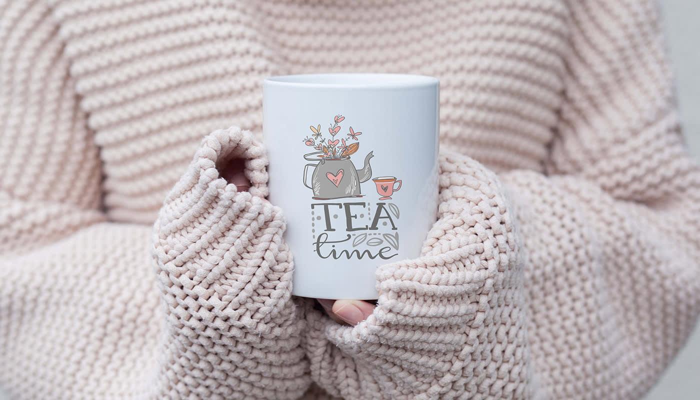 Cozy Sweater cup of tea