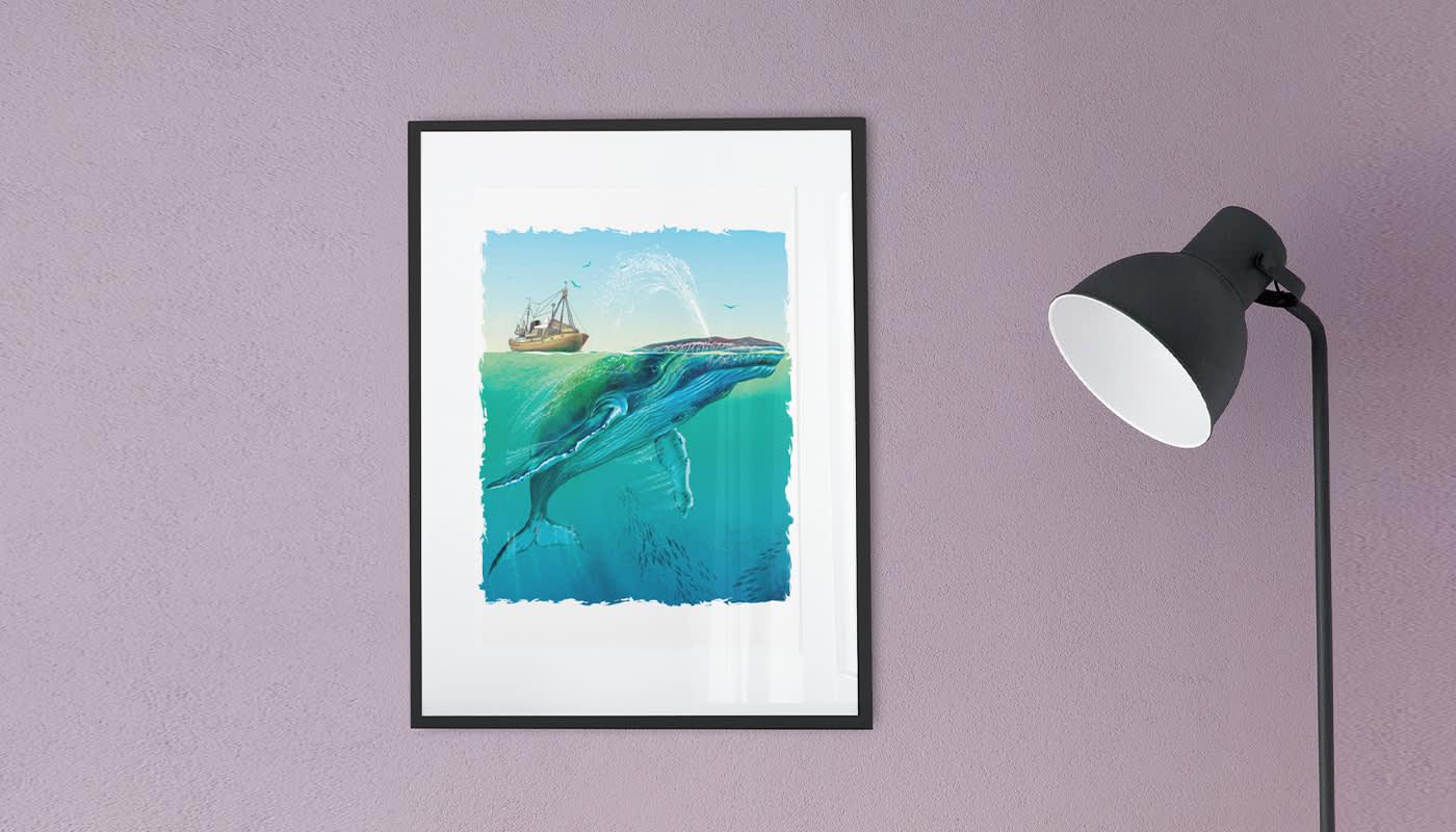 Big Ocean Whale sea design