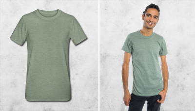 T-shirt polycoton unisexe