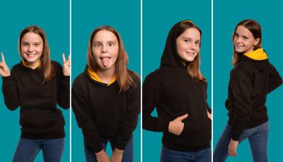 NEW: Kids and Teenagers Contrast Hoodies (Europe)