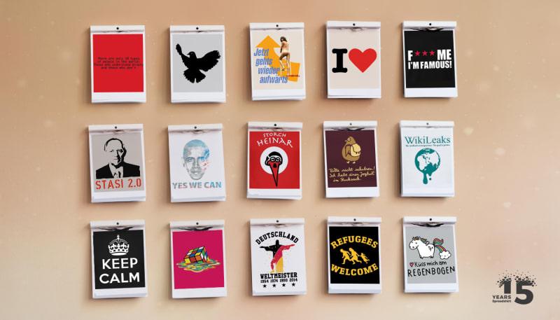 Ikonen, Politik und Absurditäten: 15 bewegte T-Shirt-Jahre