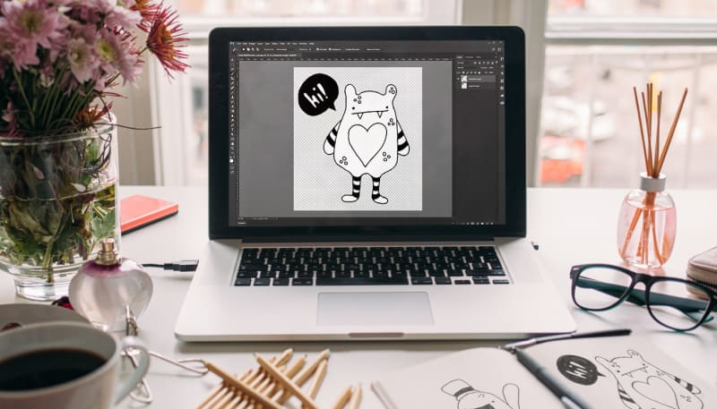 How to Digitize a Drawing in Photoshop