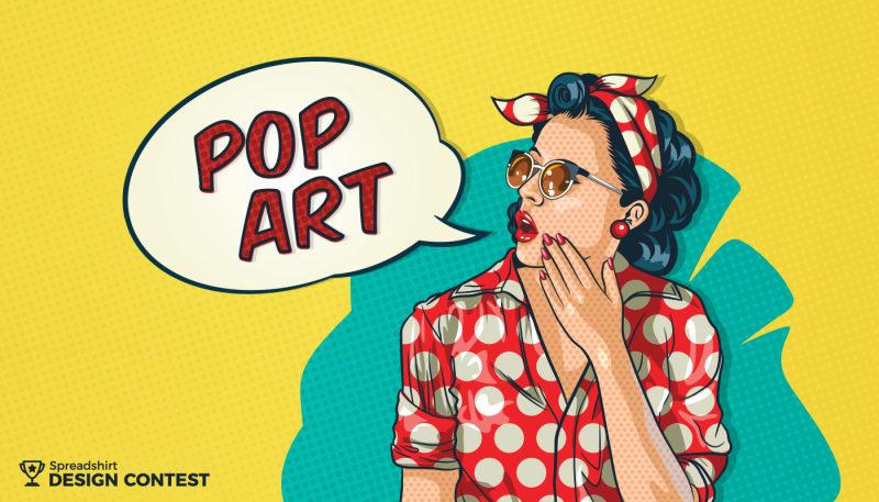 pop art design contest the spreadshirt uk blog. Black Bedroom Furniture Sets. Home Design Ideas