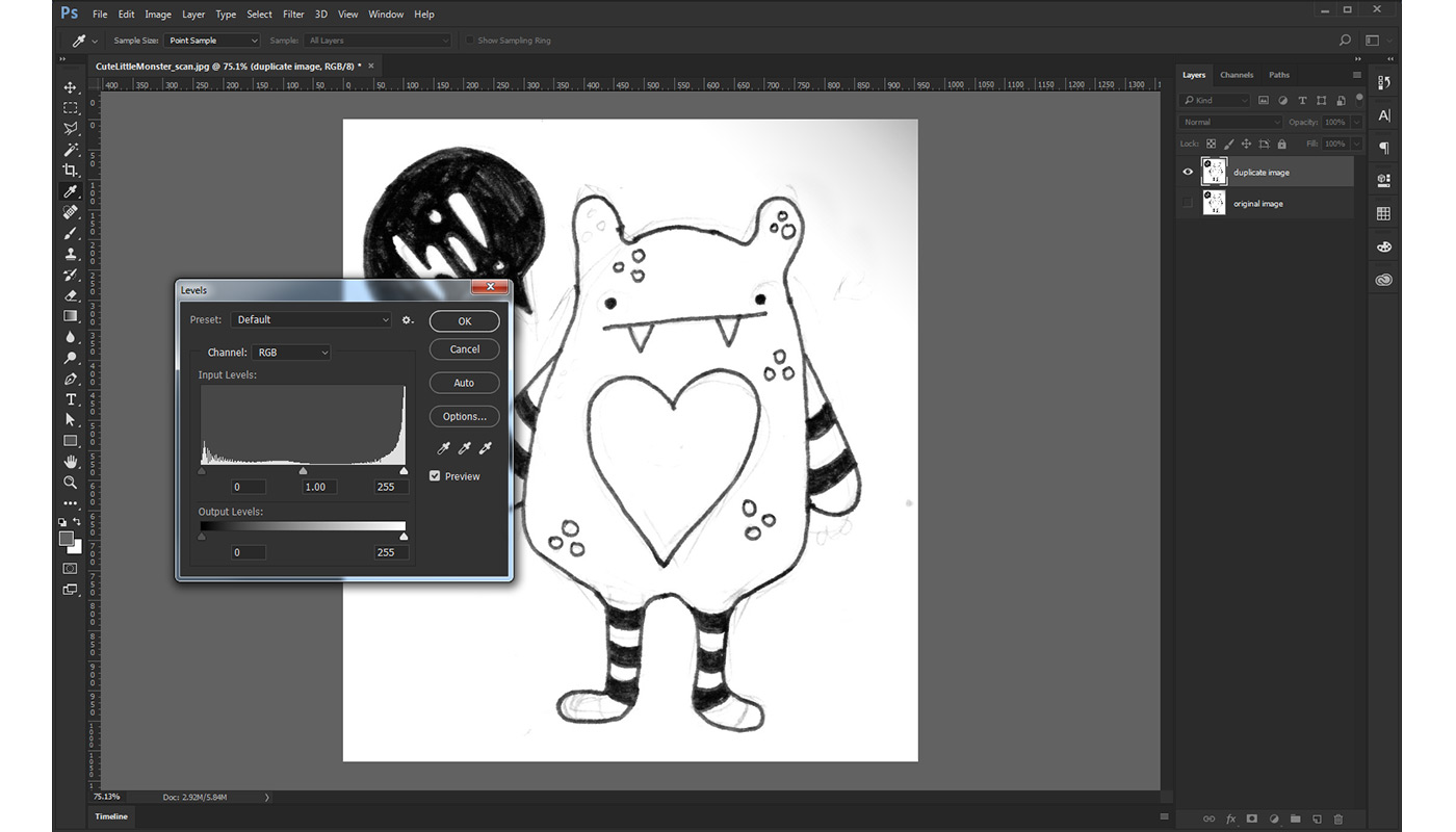 How To Digitize A Drawing In Photoshop The Us Spreadshirt Blog