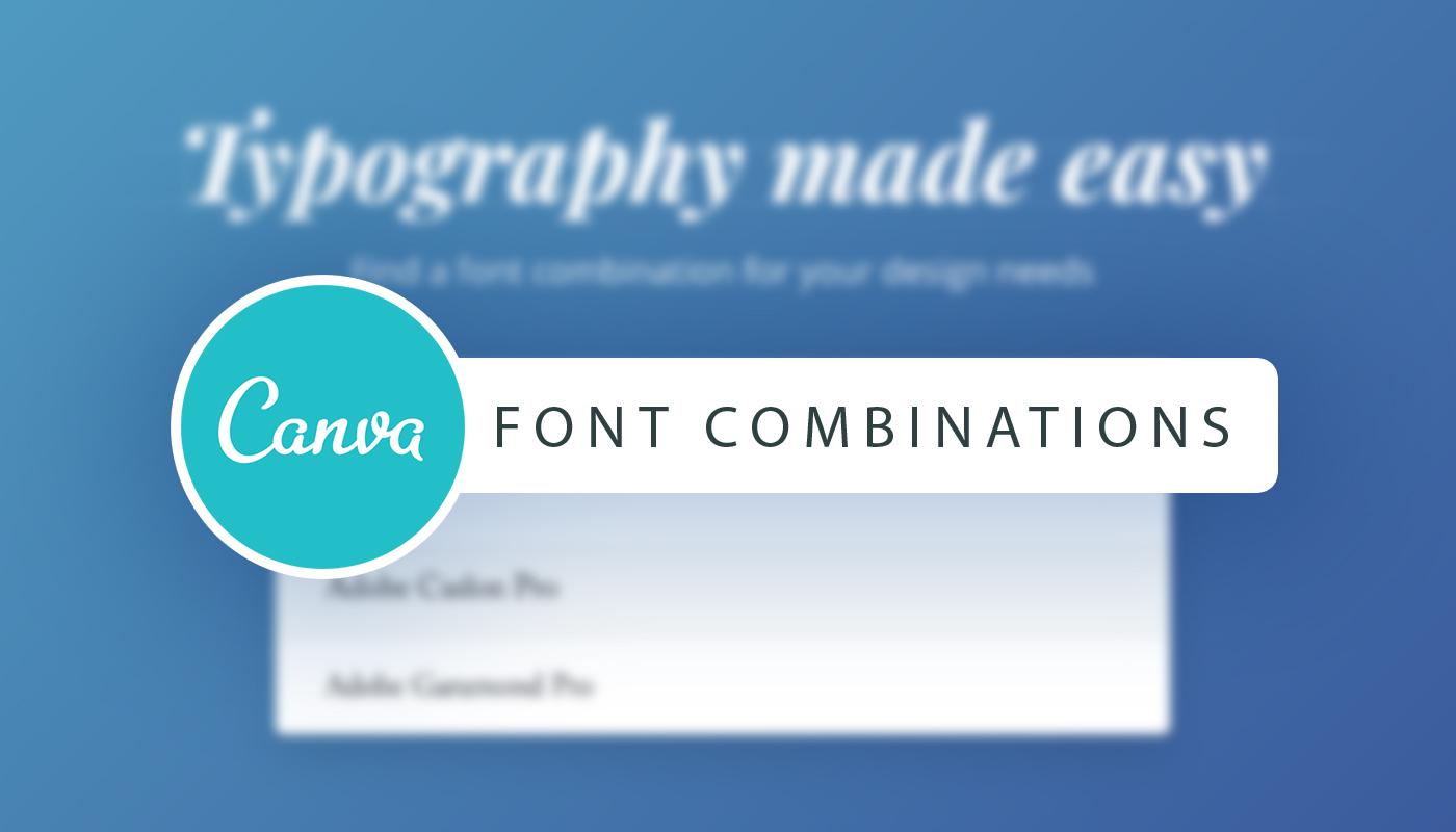 Schriftarten Perfekt Kombinieren Mit Canva Spreadshop Blog