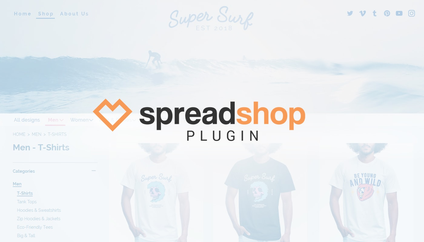 Spreadshop Tools: Wordpress Plugin